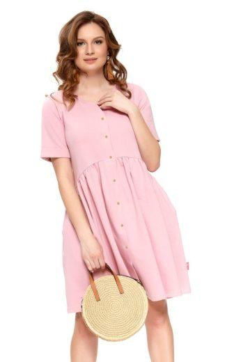 Bavlněné mateřské šaty Anna růžové