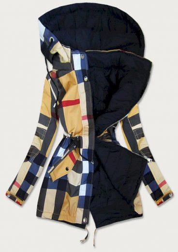 Modro-žlutá dámská oboustranná bunda (W655BIG)