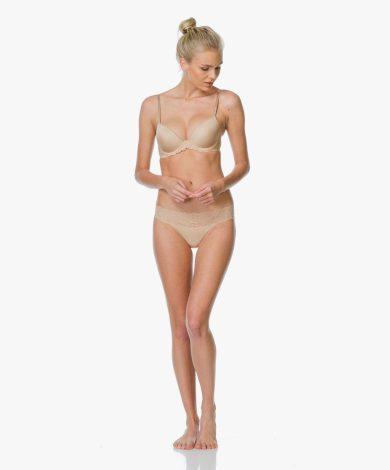 Podprsenka s kosticí QF1444E tělová - Calvin Klein