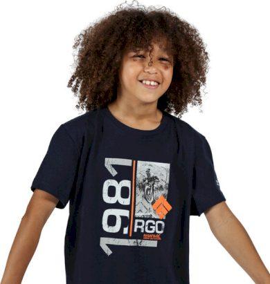 Dětské tričko Regatta RKT106 Bosley III Tmavě modré