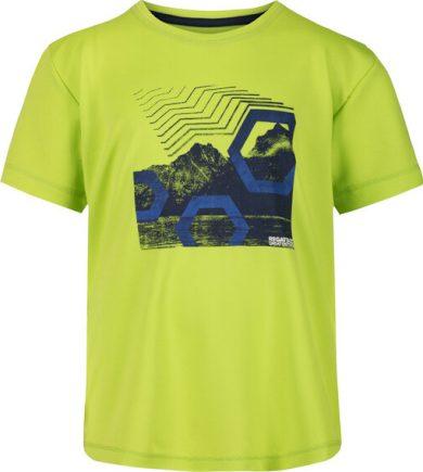 Dětské tričko Regatta RKT112 Alvarado V Zelené limetkové