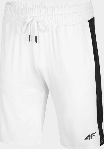 Pánské teplákové kraťasy 4F SKMD013 bílé