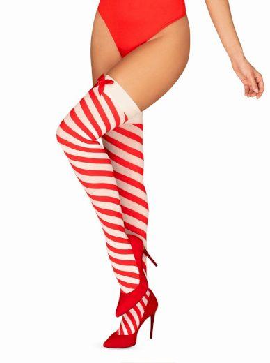 Vánoční punčochy Kissmas stockings - Obsessive