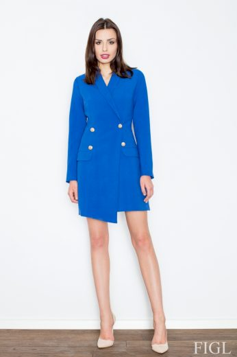Dámský kabát M447 blue - FIGL