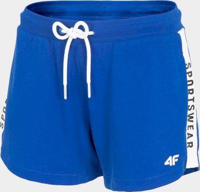 Dámské teplákové šortky 4F SKDD003 Modré