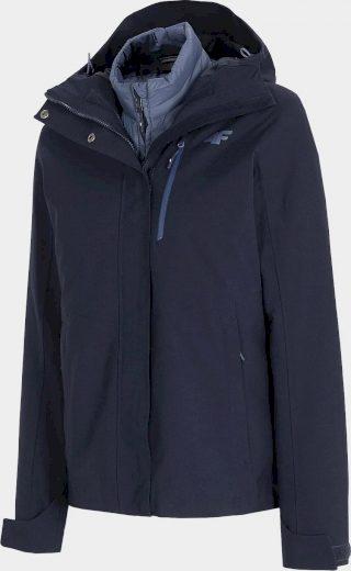 Dámská bunda 3v1 4F KUDT200 Tmavě modrá