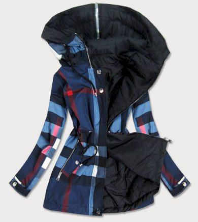 Tmavě modro - černá oboustranná dámská bunda (W653)