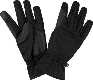 Pánské softshellové rukavice Regatta Rmg027 Softshell Gloves Černé
