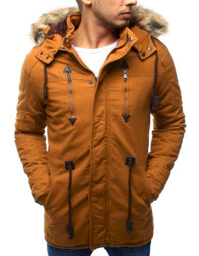 Pánská zimní bunda s kapucí Z-6682 / 6681 (tx1990) - ROSSO