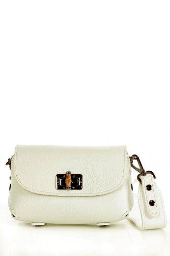 Přírodní kožená taška model 147132 Mazzini