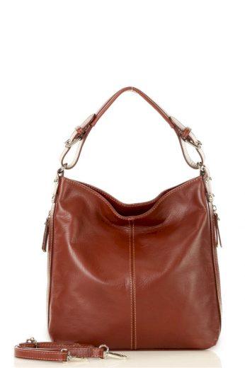 Přírodní kožená taška model 140748 Mazzini