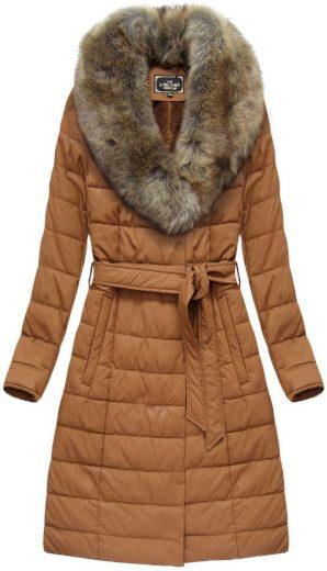 Dámský zimní kabát s kožíškem 5528 BIG - LIBLAND