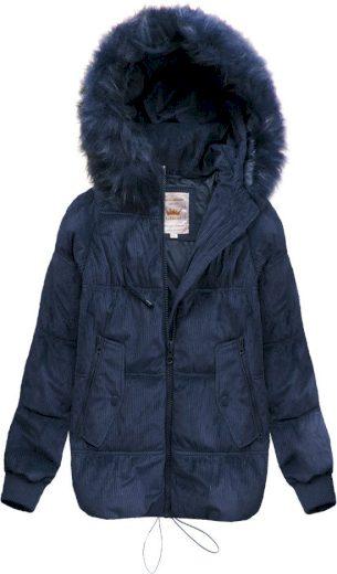 Dámská manšestrová zimní bunda s kapucí LD-7696 - Libland