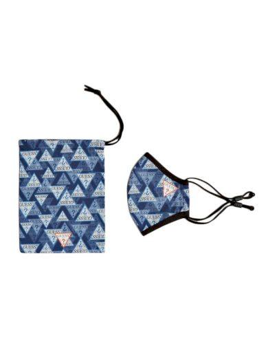 Bavlněná unisex rouška W0YZ14WDXC0-P0TR modrobílá - Guess