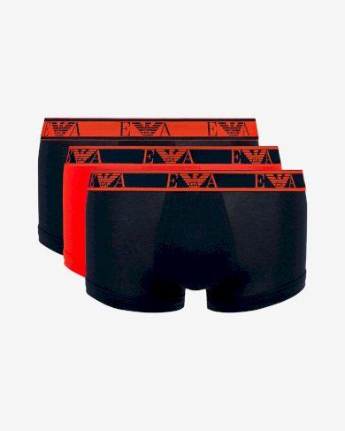 Boxerky 3pack 111357 0A715 70635 modro-oranžová - Emporio Armani