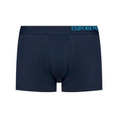 Boxerky 111357 0A713 70435 3pack tm.modrá - Emporio Armani