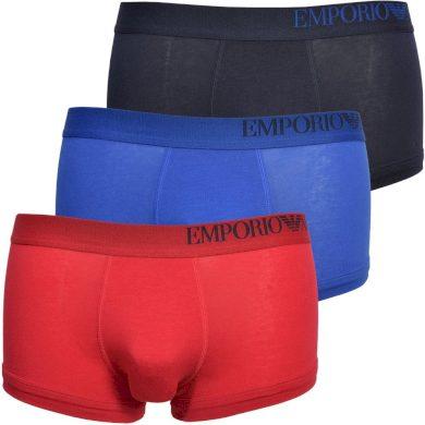 Boxerky 3pack 111357 0A713 33074 vícebarevná - Emporio Armani