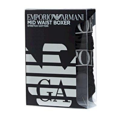 Boxerky 2pack 111912 0A720 23820 černá - Emporio Armani