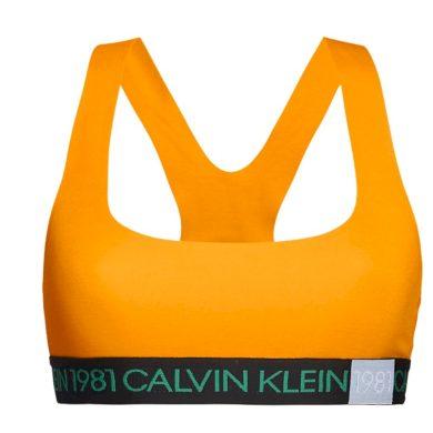 Sportovní podprsenka QF5577E-1ZK oranžová - Calvin Klein