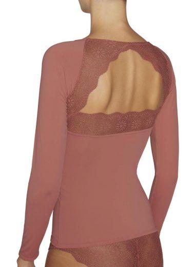 Dámské tričko s dlouhým rukávem 19185 červená - Ysabel Mora