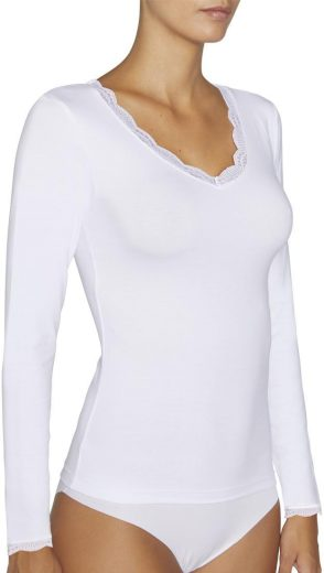 Dámské tričko s dlouhým rukávem 19688 bílá - Ysabel Mora