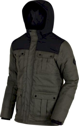 Pánská zimní bunda Regatta RMN095 ANDOR Khaki / Black