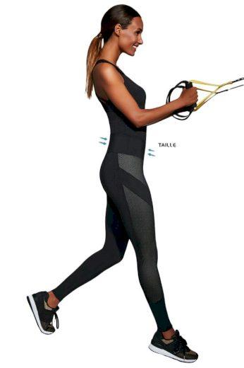 Tvarující fitness legíny Misty černé