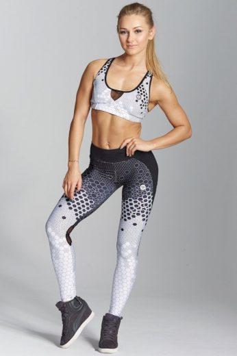 Legíny White Honey Combs - Gym Glamour