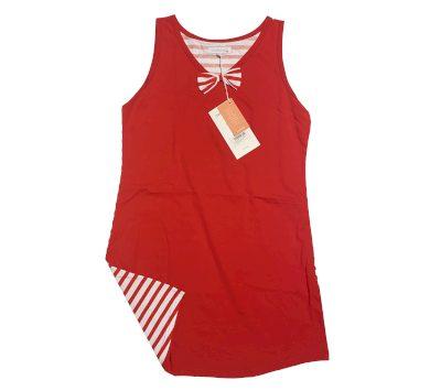 Dámská noční košile LA2149AB červenobílá - Noidinotte
