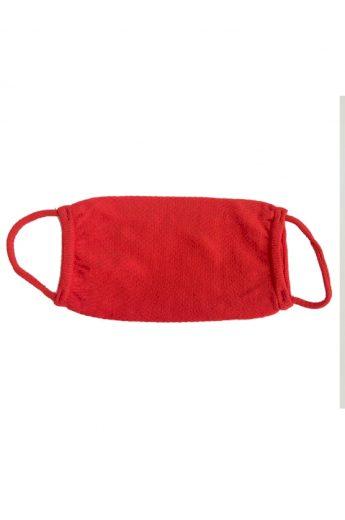 Dvouvrstvá rouška s možností vložení kapesníku červená - GEMINI