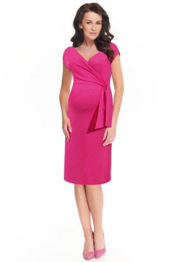 Těhotenské a kojicí šaty Janisa růžové