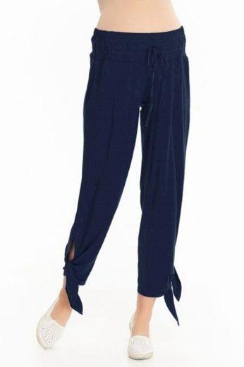 Těhotenské kalhoty Teris tmavě modré