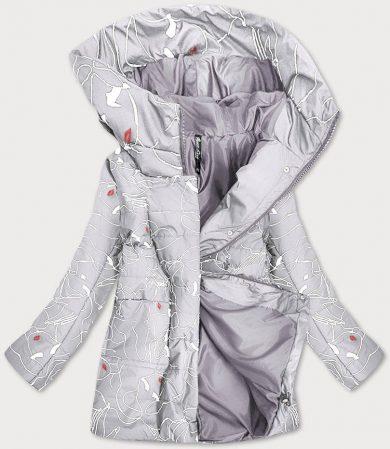 Dámská vzorovaná šedá bunda (7720)