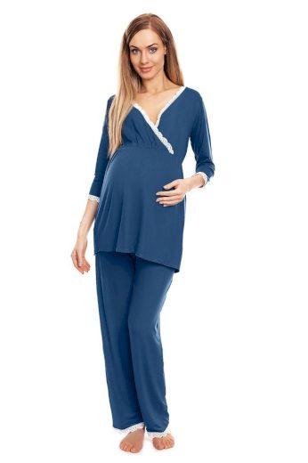 Mateřské pyžamo Agata modré