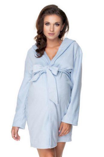 Těhotenský župan polar Lottie modrý