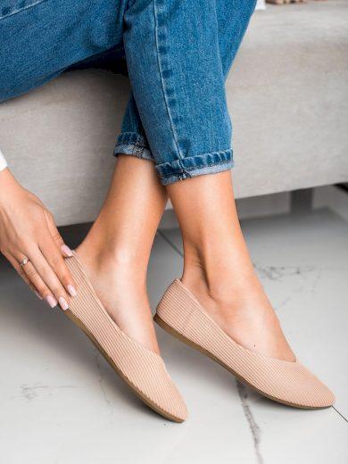 Trendy  baleríny dámské hnědé bez podpatku