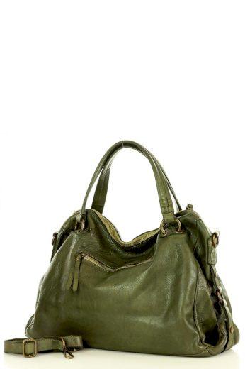 Přírodní kožená taška model 145567 -  Mazzini