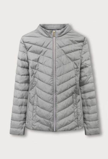 Šedá bunda se skrytou kapucí (W80)