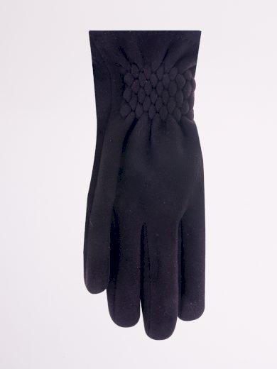 Dámské rukavice - semiš, stahovací lem RS-031