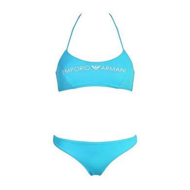 Dámské dvoudílné plavky 262618 0P313 00383 modrá - Emporio Armani