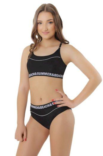 Dívčí dvoudílné plavky Alexandra černé