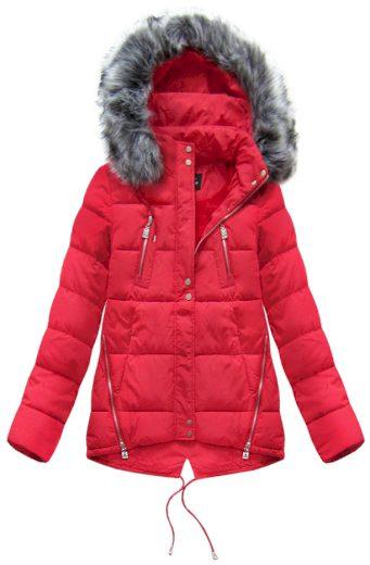 Dámská zimní bunda s kapucí YB917 - Black Fish
