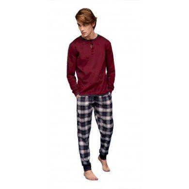 Pánské pyžamo FC2067AB červenomodrá - Noidinotte