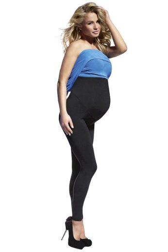 Těhotenské legíny Anabel 200 DEN černé