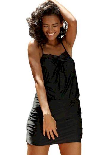 Luxusní dámská noční košile Tabia černá