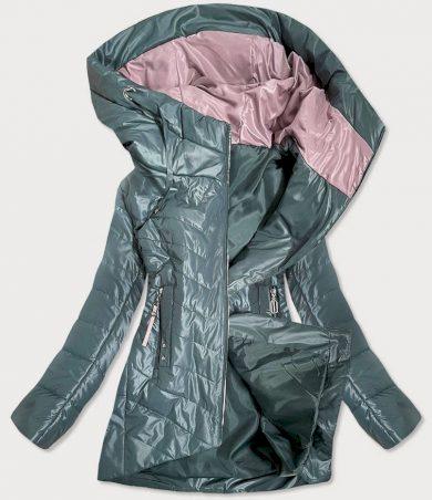 Dámská bunda v khaki barvě s ozdobnými kapsami (7731)