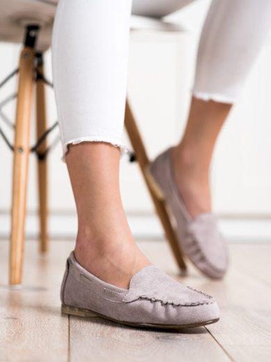 Moderní dámské   mokasíny bez podpatku