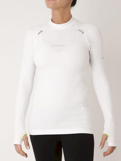 Unisex funkční tričko s dlouhým rukávem UP IRON-IC 1.0 - bílé Barva: Bílá, Velikost: