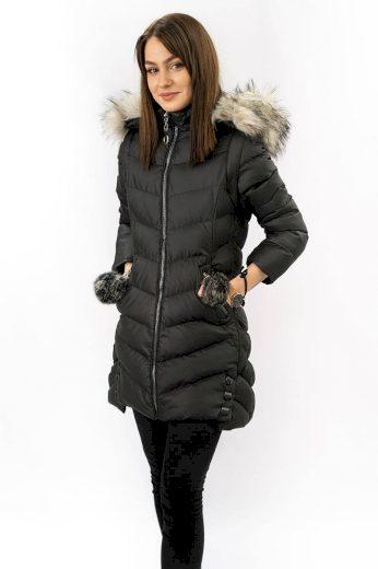 Dámská zimní bunda s odepínajicími rukávy (W761) Bordo - Geminy