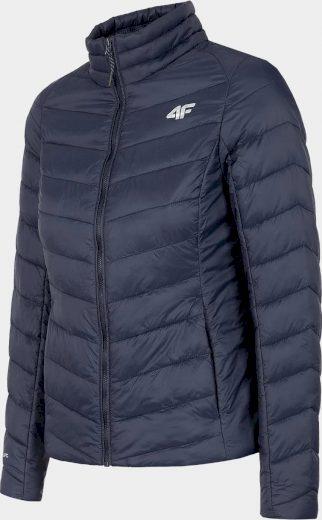 Dámská péřová bunda 4F  KUDP060 Tmavě modrá